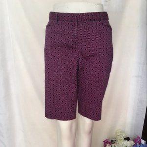 Laundry By Shelli Segal Geometrical Bermuda Shorts